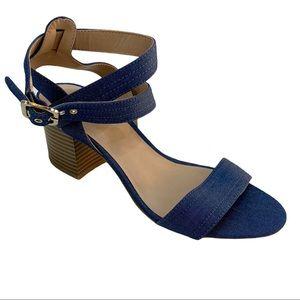 Apt. 9 Denim Block Heels Sandals 7